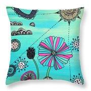 Flower Fever Throw Pillow