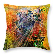 Flower Field Trip Throw Pillow