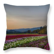 Flower Fields 2 Cropped Into A Standard Ratio Throw Pillow