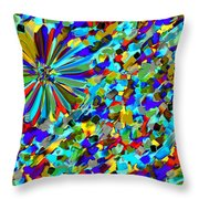 Flower Fight Abstract Throw Pillow