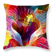 Flower Fire Power Throw Pillow