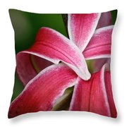 Flower Fist Throw Pillow
