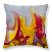 Flower Flames Throw Pillow