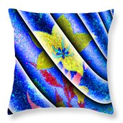 Flower Flux Throw Pillow