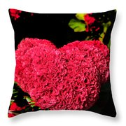 Flower For The Heart Throw Pillow