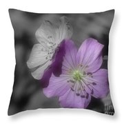Flower Friends In Black And White Throw Pillow