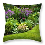 Flower Garden Throw Pillow