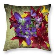 Flower - Garden Joy - Luther Fine Art Throw Pillow