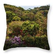 Flower Garden On A Hill Throw Pillow