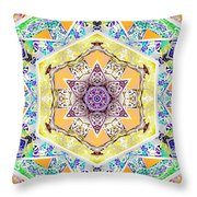 Flower Goddess Throw Pillow