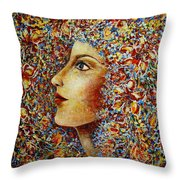 Flower Goddess. Throw Pillow