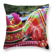 Flower Hmong Baby 05 Throw Pillow