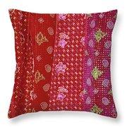 Flower Hmong Velvet Throw Pillow
