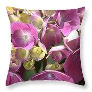 Flower-hydrangea Pink Throw Pillow