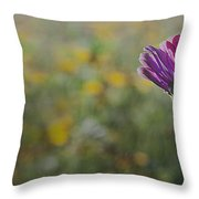 Flower In A Field  Throw Pillow