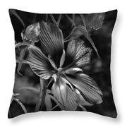 Flower In B-w Throw Pillow