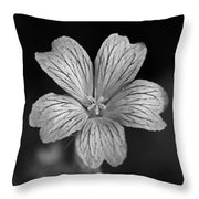 Flower In Black And White Throw Pillow