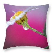 Flower In Purple Throw Pillow