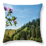 Flower In The Carpathians Throw Pillow