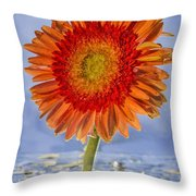 Flower In Water Throw Pillow