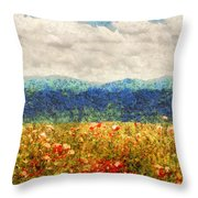 Flower - Landscape - Fragrant Valley Throw Pillow by Mike Savad