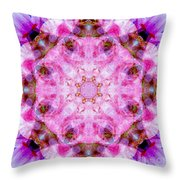Flower Of Life Lily Mandala Throw Pillow