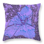 Flower Of Purple Throw Pillow
