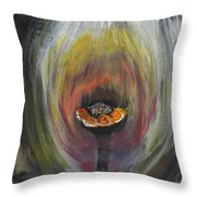 Flower On Fire Throw Pillow
