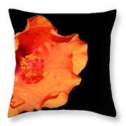Flower On Fire Throw Pillow
