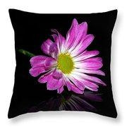 Flower On Glass Throw Pillow