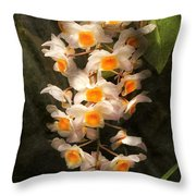 Flower - Orchid - Dendrobium Orchid Throw Pillow