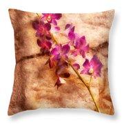 Flower - Orchid - Just Splendid Throw Pillow