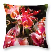 Flower - Orchid - Oncidium Orchid - Eye Candy Throw Pillow
