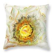 Flower Palette Throw Pillow