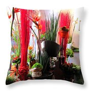 Flower Paradise Throw Pillow