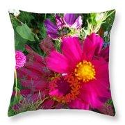 Flower Patch 1 Throw Pillow