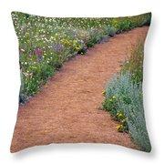 Flower Path Throw Pillow