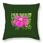 Flower Pink Throw Pillow