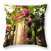 Flower Post Throw Pillow