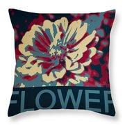 Flower Poster Throw Pillow