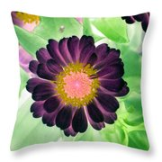 Flower Power 1435 Throw Pillow