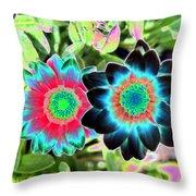 Flower Power 1449 Throw Pillow
