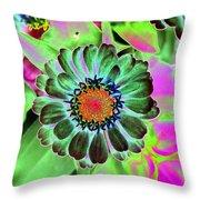 Flower Power 1454 Throw Pillow