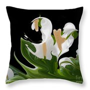 Flower Power Abstract Throw Pillow