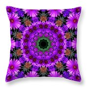 Flower Power Throw Pillow by Kristie  Bonnewell