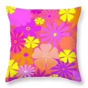 Flower Power Pastels Design Throw Pillow