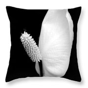 Flower Power Peace Lily Throw Pillow