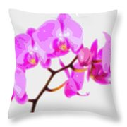 Flower Purple Orchid  Throw Pillow