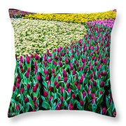 Flower Sea Throw Pillow