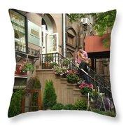 Flower Shop Throw Pillow